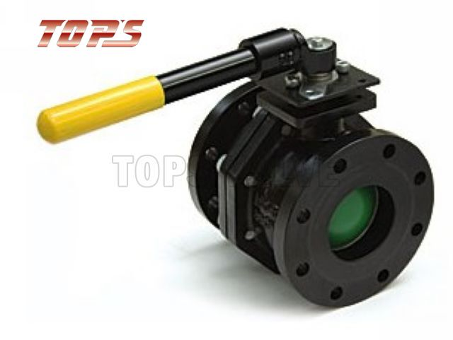 2 PC flanged Ductile Iron Full or Reduce Bore Floating Ball Valve