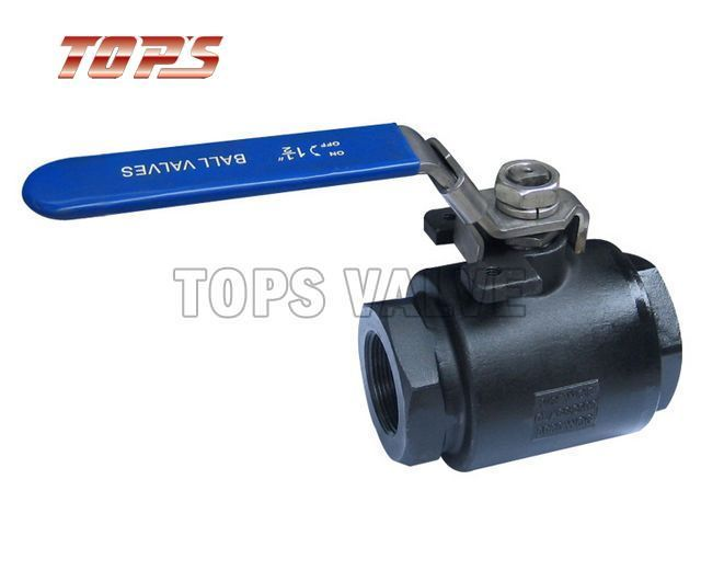2-PC 6000psi Carbon Steel and Stainless Steel Ball Valve
